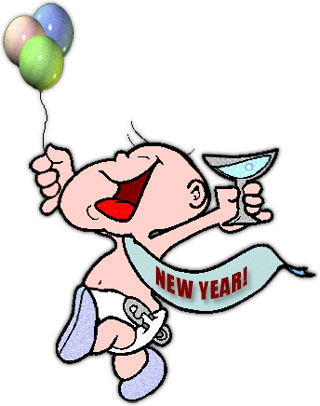 Delightful Baby New Year Celebrating The New Year