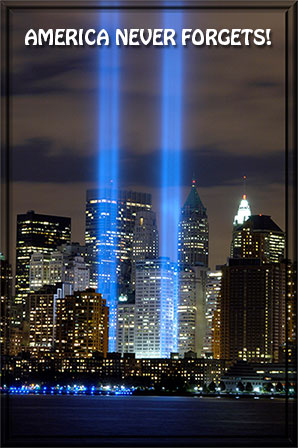 America Never Forgets - WTC Lights