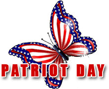 Patriot Day with red, white and blue butterfly