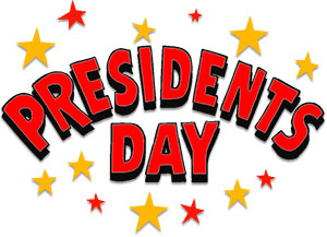 Presidents Day sign clipart