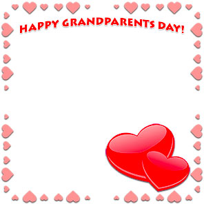 Happy Grandparents Day large hearts