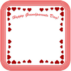 Happy Grandparents Day frame