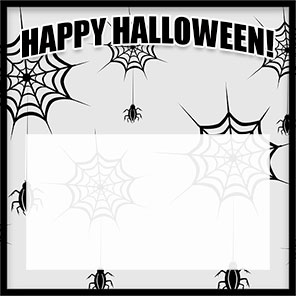Happy Halloween with spiders