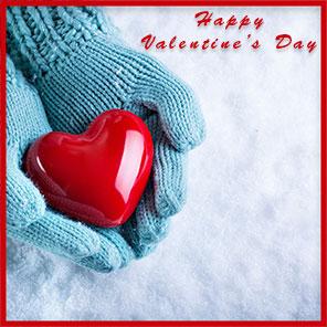 heart snow valentine's day