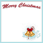 Merry Christmas golden bells
