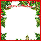 Merry Christmas holly frame