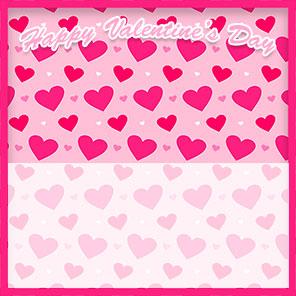 pink hearts valentine border