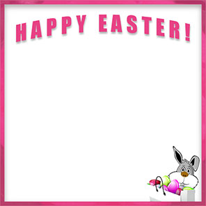 Happy Easter bunny border