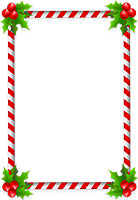 candy cane holly border