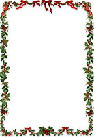 holly ribbon border