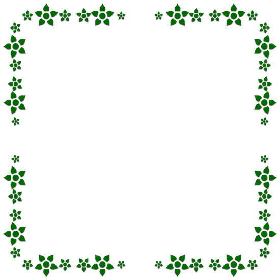 star flower border frame