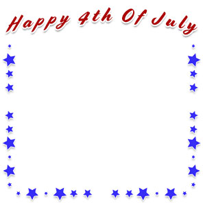 Happy 4th of July frame