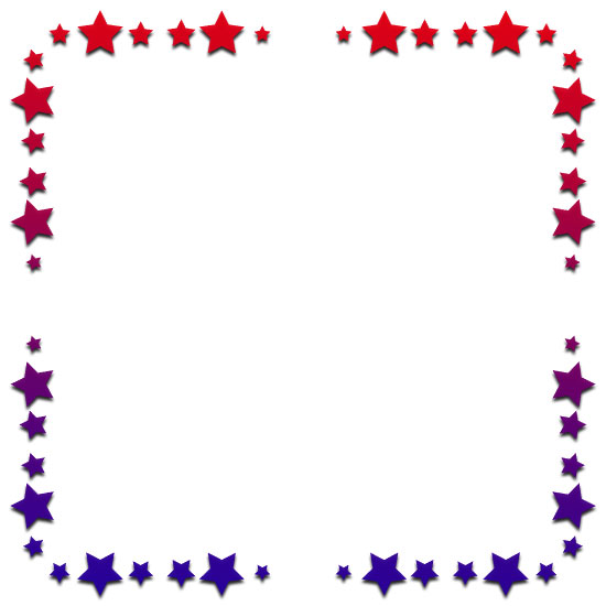red and blue star border