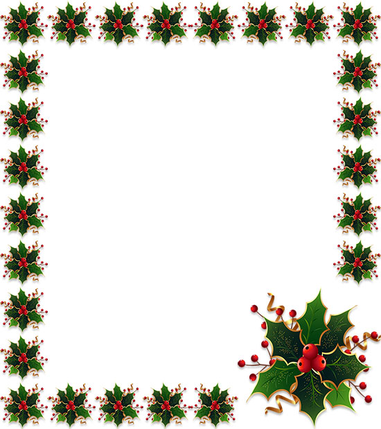 Christmas holly and poinsettia border   Christmas clipart free, Free  christmas borders, Christmas border