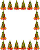 Christmas trees border