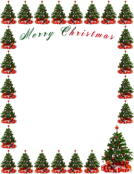 Christmas Tree Border, Tree Clipart, Christmas, Frame PNG Transparent  Clipart Image and PSD File for Free Download