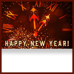 clock Happy New Year