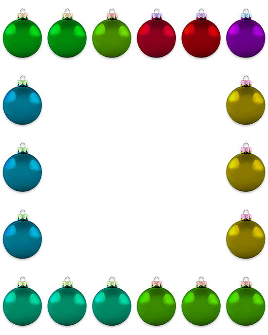 colorful ornaments border