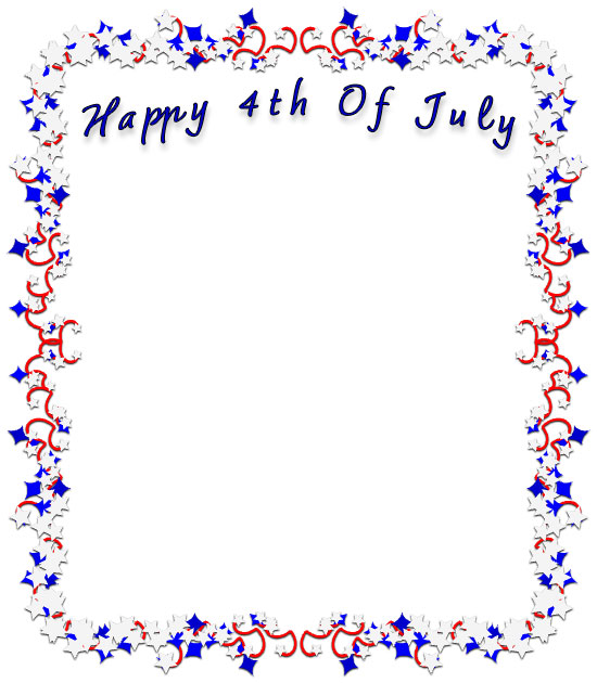 Happy 4th Of July Borders Free 4th Of July Border Clip Art