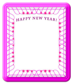 Happy New Year frame