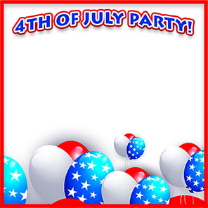 4th of July party border