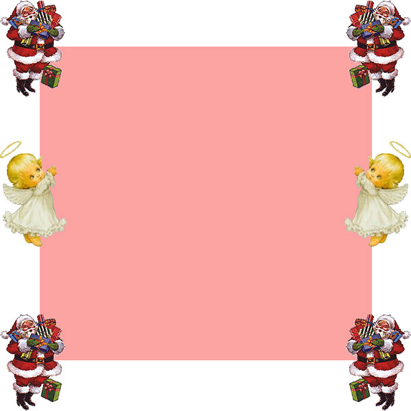 Santa and angel border