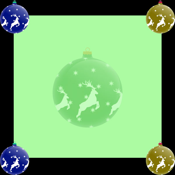 Christmas ornaments border frame