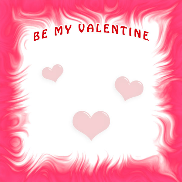 be my valentine border