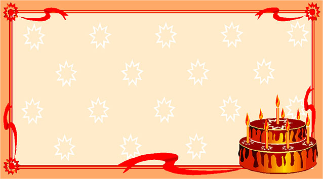 Birthday Cake Border