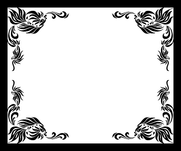 black and white border frame
