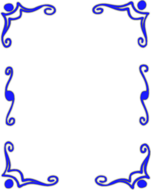 blue borders design