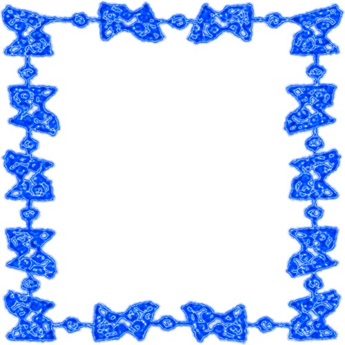 blue abstract border on white