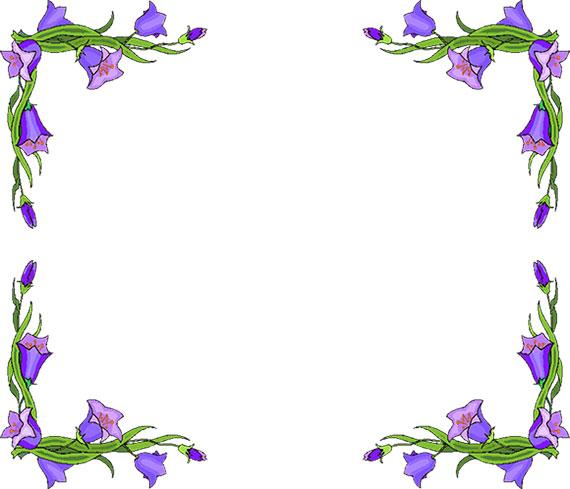 Border flower. Free borders clipart
