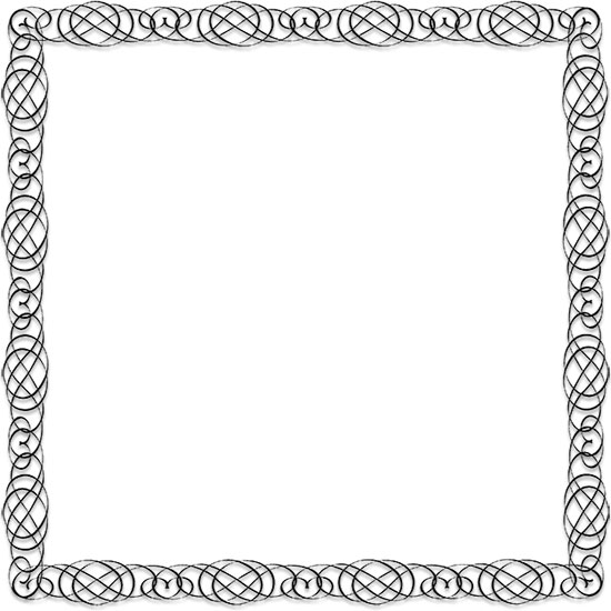 Calligraphic Frame Design Simple Full Calligraphy Border Larger Print Version