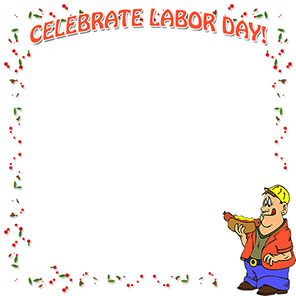 celebrate labor day border