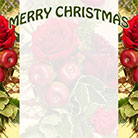 Christmas flower and fruit arrangement border