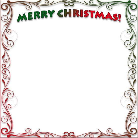 merry christmas flourish border