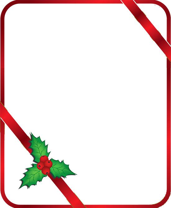 Holly border clipart