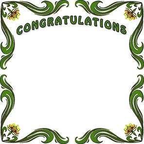 Free Congratulations Borders - Congratulation Border Clip Art