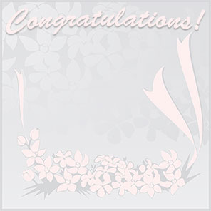 congratulations pink flowers