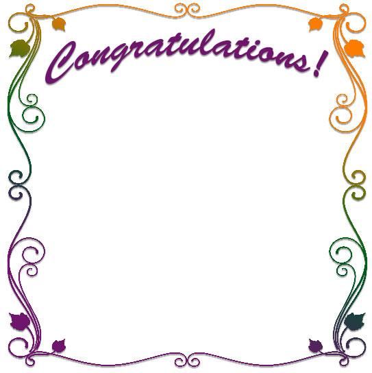 free congratulations borders congratulation border clip art
