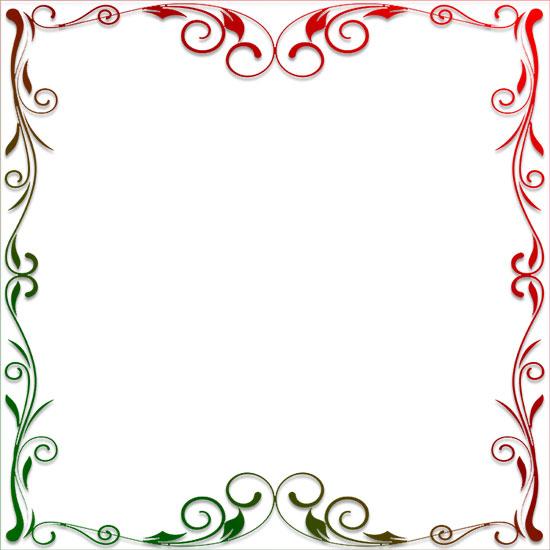 Decorative Floral Design Border Frame Larger Print Version