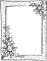 Black and white frame with flowers