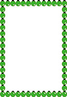 green ornament Christmas border