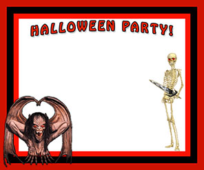 Halloween Party border