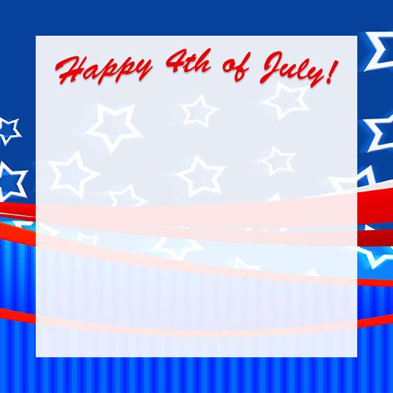 Fourth of july border clip art