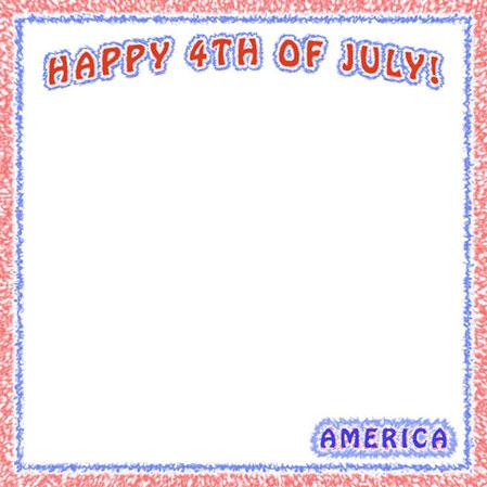 Happy 4th Of July Border