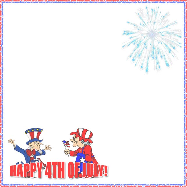 4th of july boarder. Free th borders happy