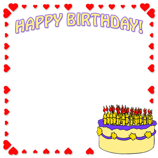 Birthday Clip Art And Free Birthday Graphics: Happy Birthday Border Clip Art
