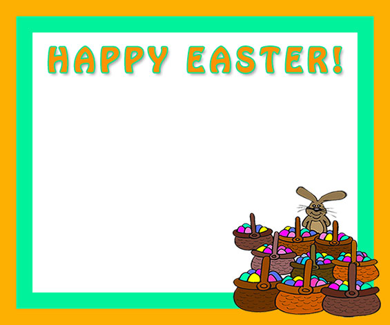 happy easter lots of eggs - Easter Photo Frames